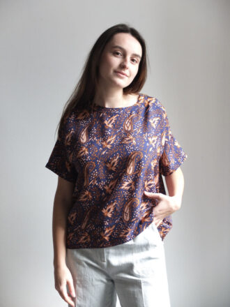 Blusa estampada de seda de attic and barn amma bilbao