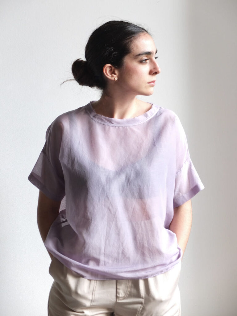 blusa de seda y algodón attic and barn amma bilbao