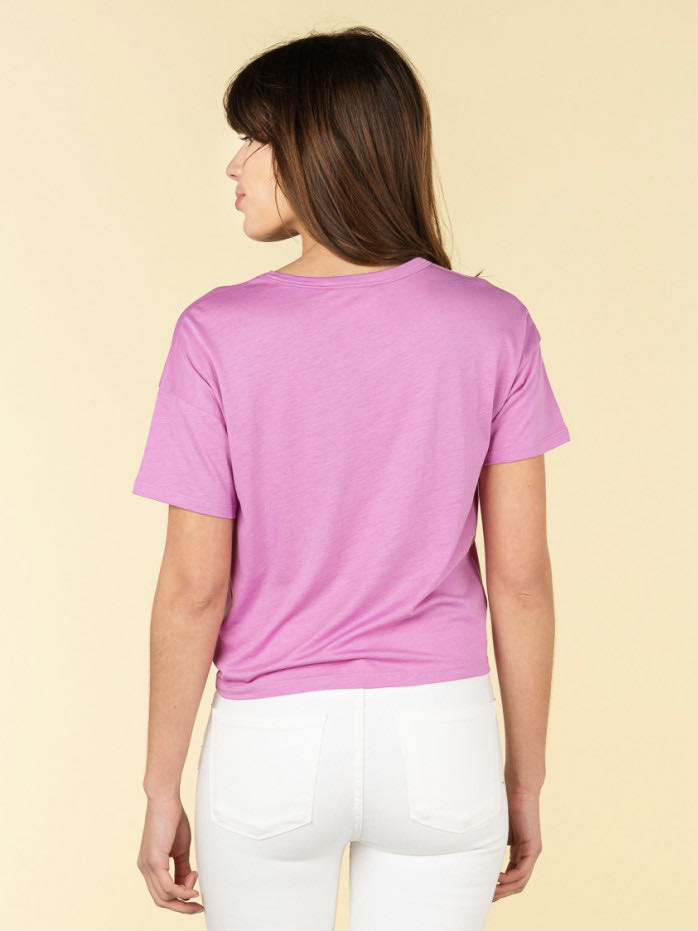 camiseta lila absolut cashmere